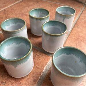 Set of six ceramic tea, coffee, or sake cups